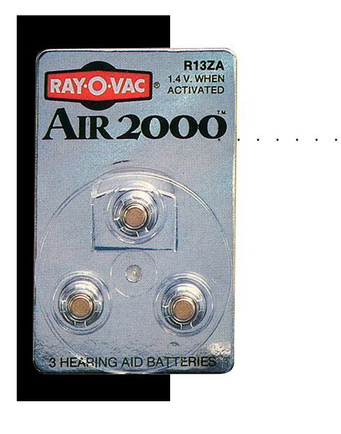 pilha Air 2000 para aparelhos auditivos