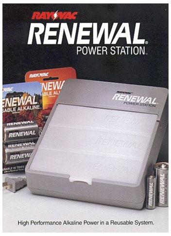 Renewal, bateria alcalina recarregável